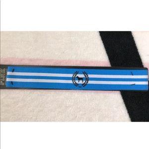 VS Pink Blue White Striped Dog Elastic Headband